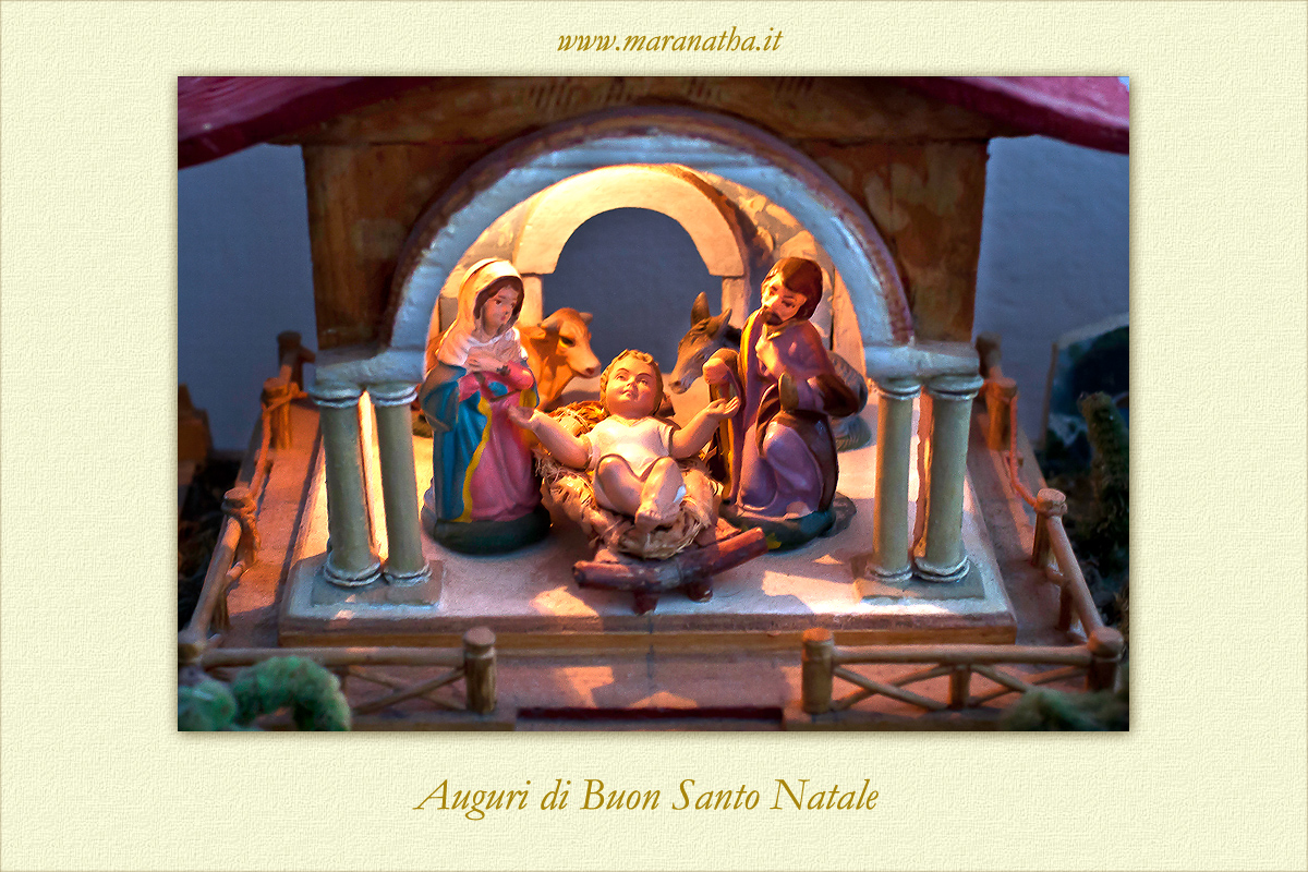 Buon Santo Natale.Auguri Di Buon Santo Natale Www Maranatha It