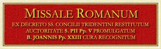 Missale Romanum - www.maranatha.it