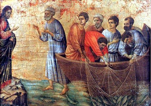 Jesus au lac de Tiberiade dans images sacrée lu09